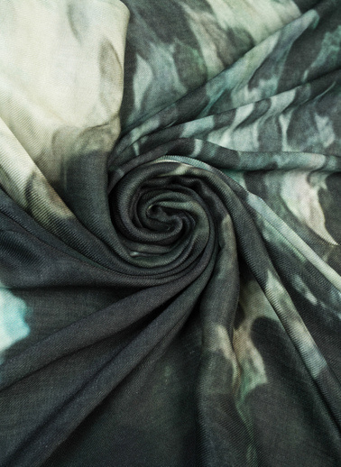 Silk and Cashmere Şal Antrasit